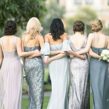 See How The Styled It: Sequin Bridesmaid Dresses